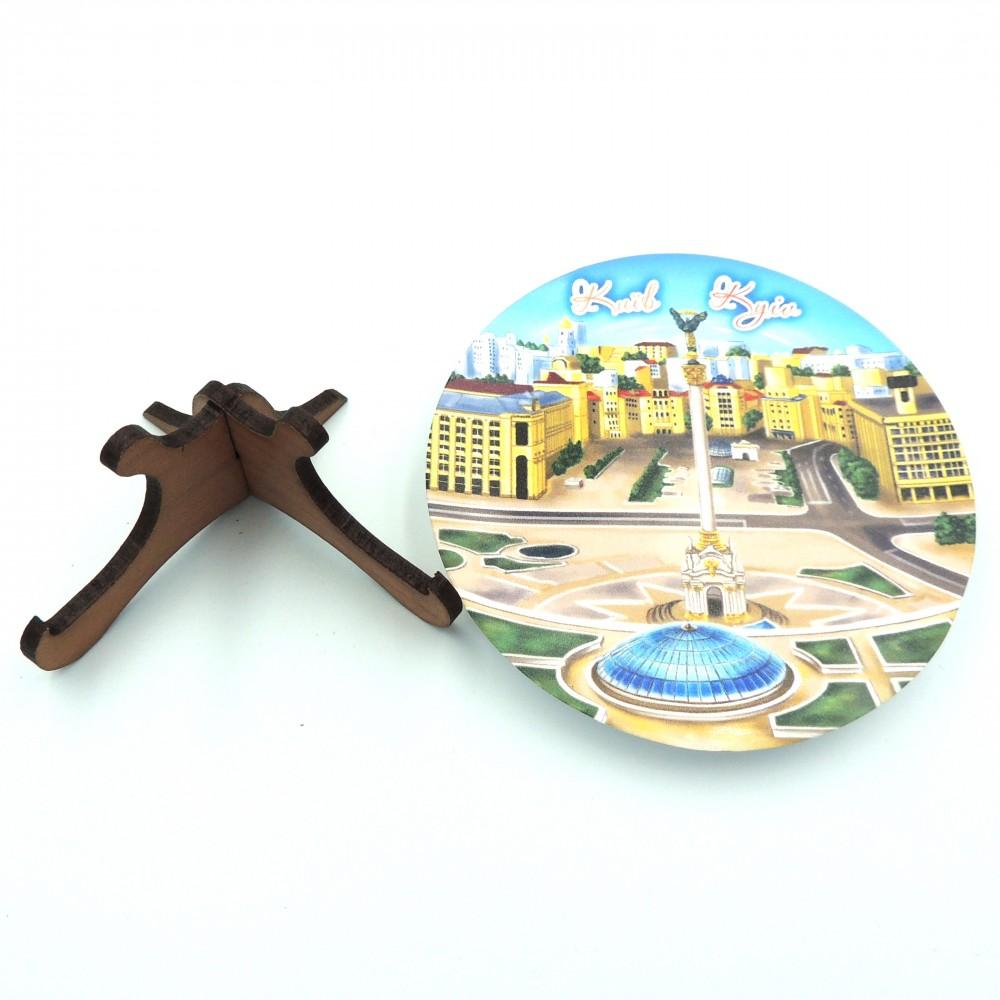 Сувенирная тарелка с плоским дном 85 мм Киев №10