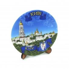 Сувенирная тарелка с плоским дном 85 мм Киев №12