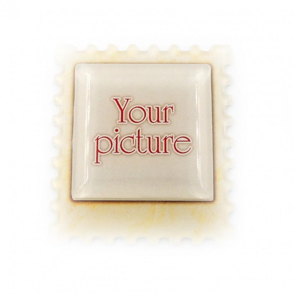Магнит обратной печати Марка квадрат плоская с линзой