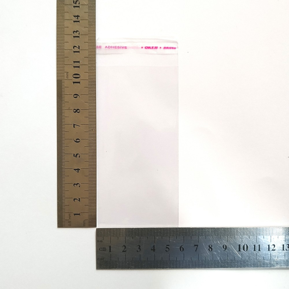 Пакет полипропиленовый 56*110 мм с клеевой лентой