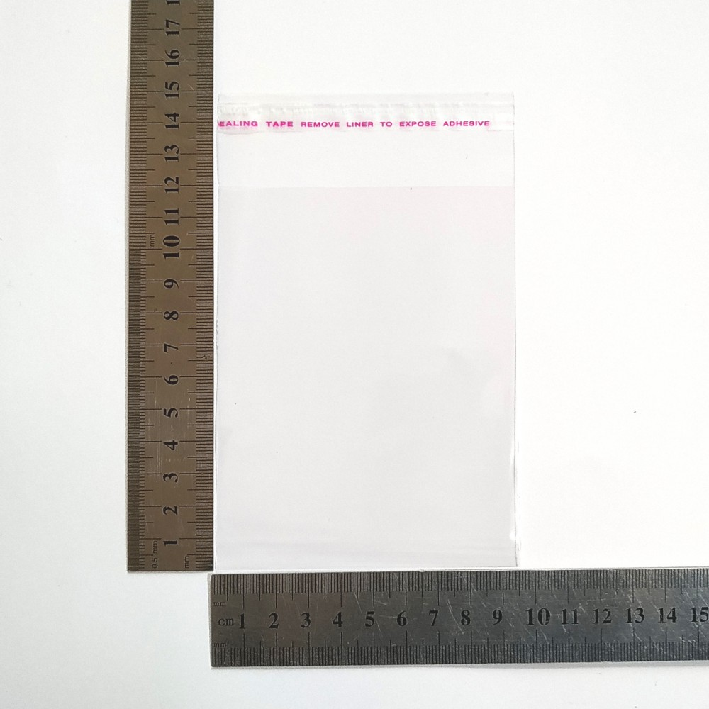 Пакет полипропиленовый 95*120 мм с клеевой лентой