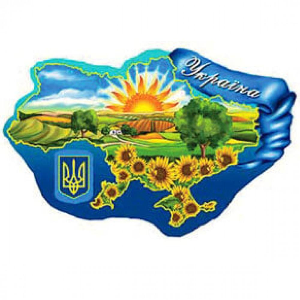 Керамическая заготовка для магнита - Карта Украины