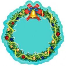 Керамическая заготовка для магнита - Новогодний венок
