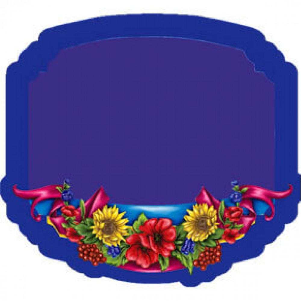 Керамическая заготовка для магнита - Рамка с цветами