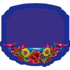 Керамічна заготовка для магніта - Рамка з квітами