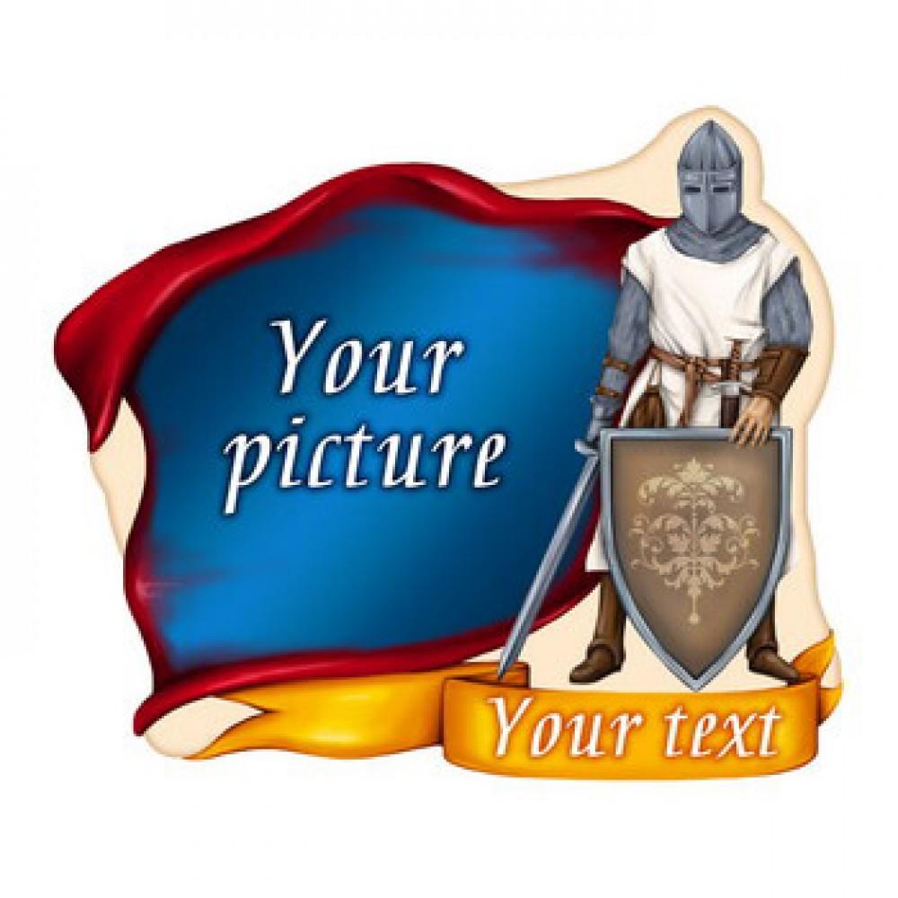 Керамічна заготовка для магніта - Лицар з мечем і щитом