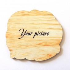 Дерев'яний магніт прямого друку Фігурний на замовлення