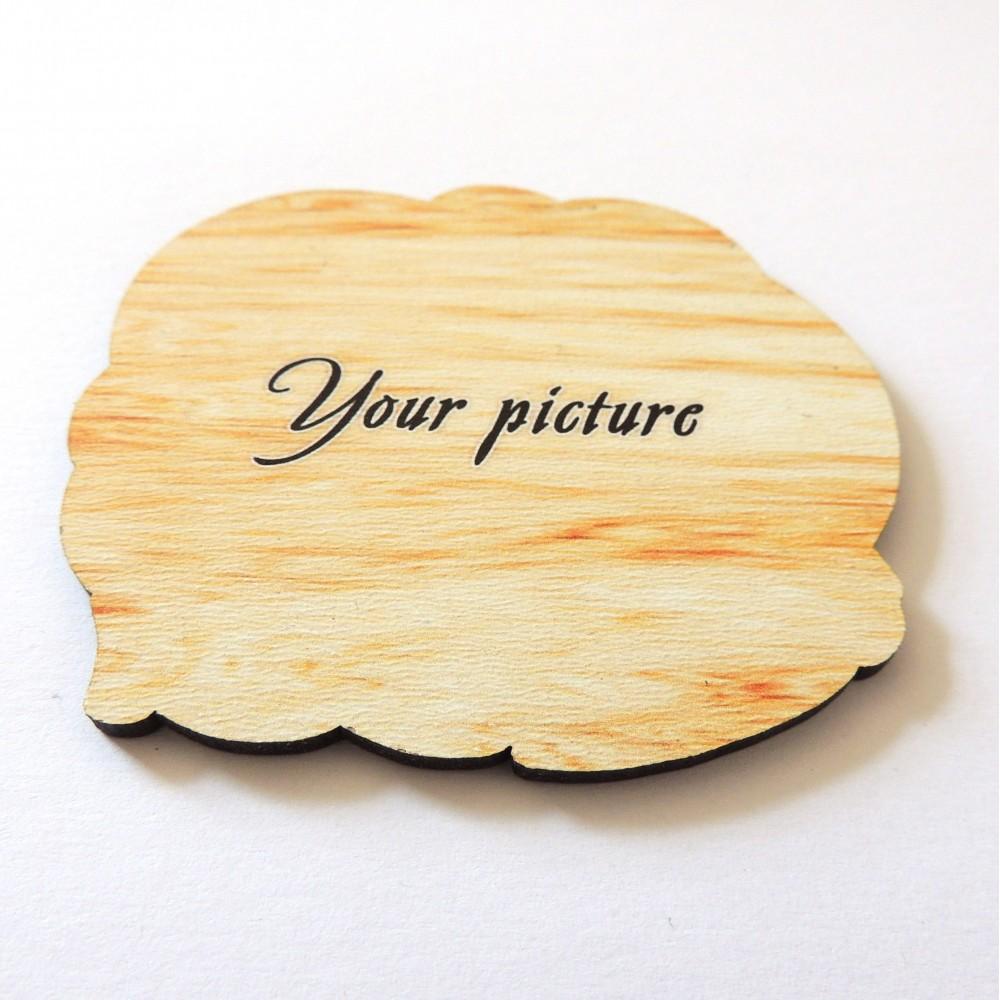 Деревянный магнит прямой печати Фигурный под заказ