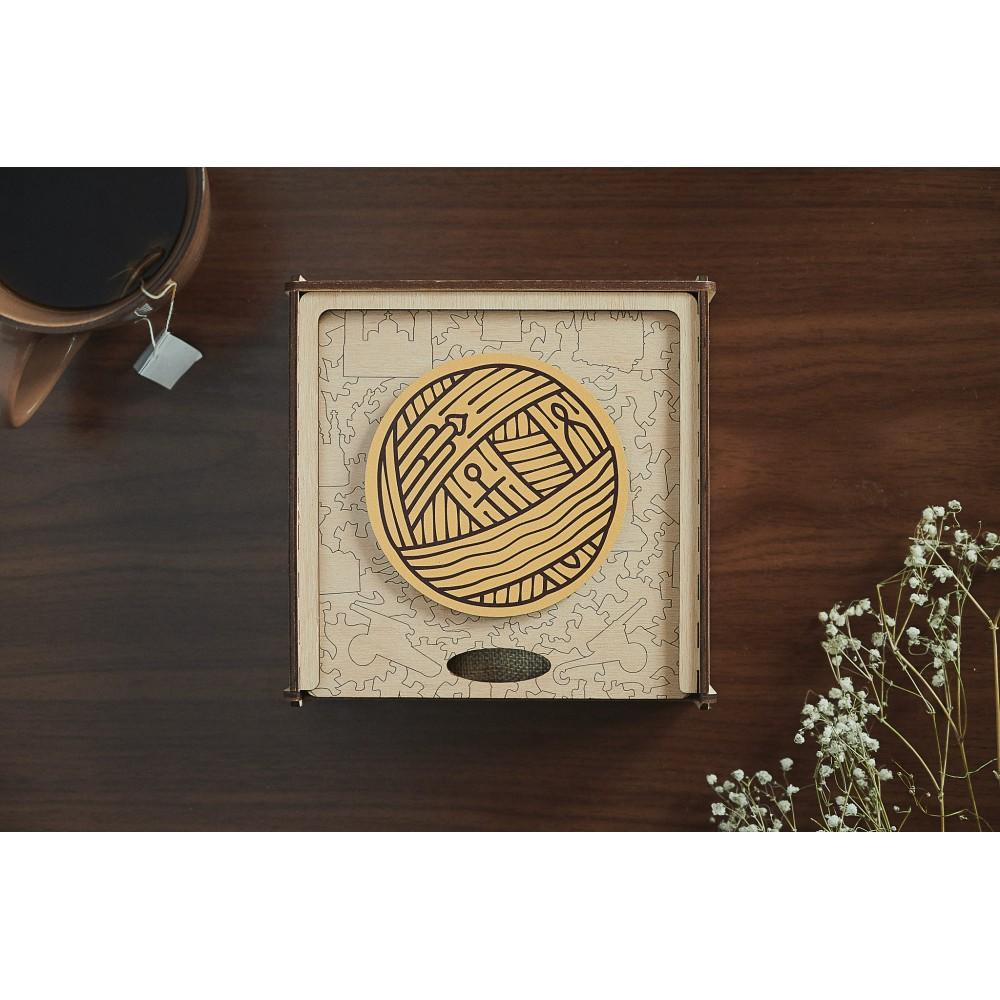 Необычный дизайнерский семейный пазл для взрослых из дерева Чернигов в подарочной коробке