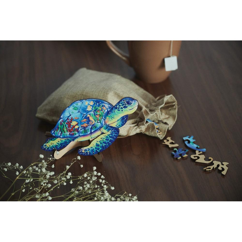 Деревянный пазл головоломка для детей и взрослых животные Морская Черепаха