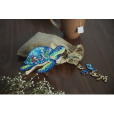 Дерев'яний пазл головоломка для дітей та дорослих тварини Морська черепаха