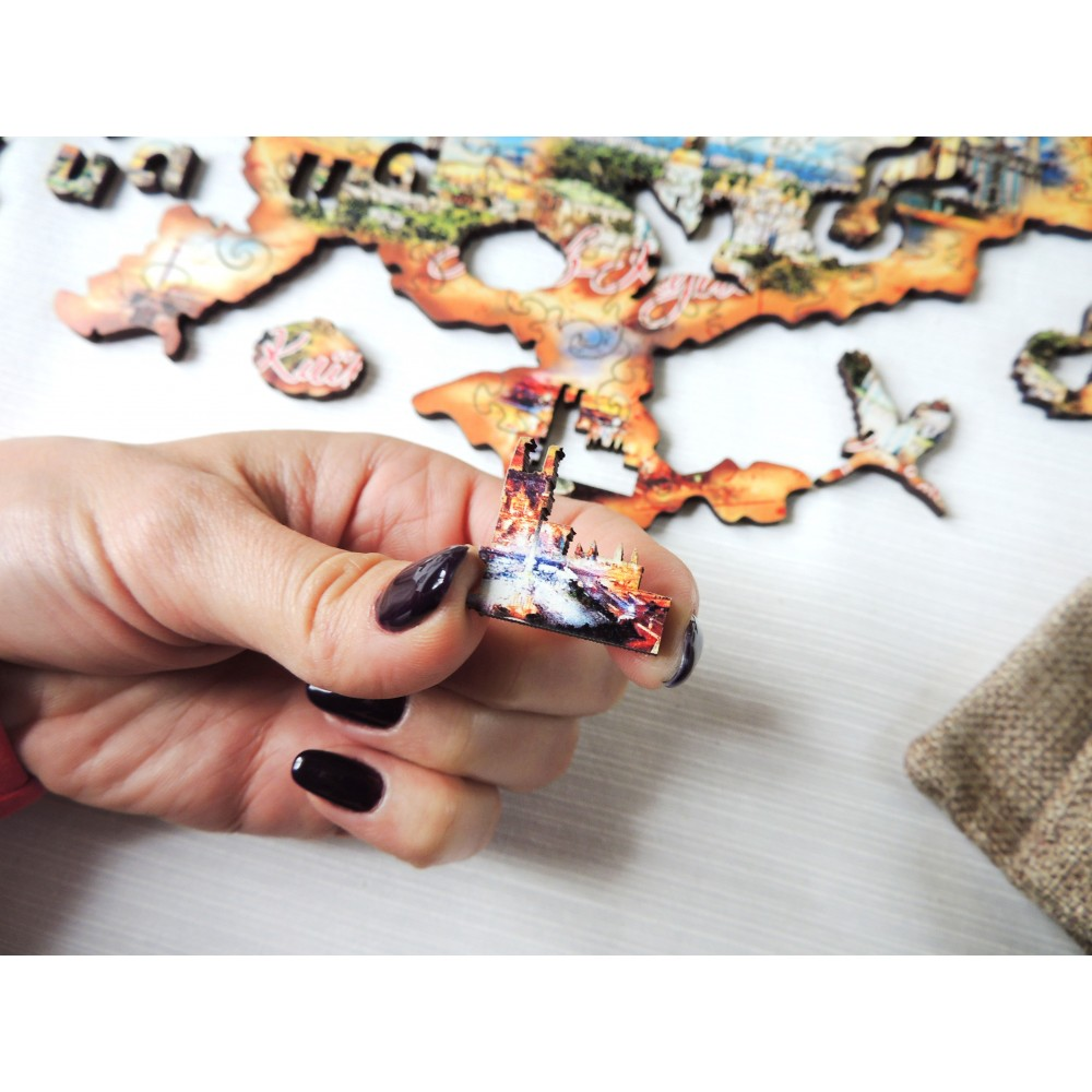 Деревянный пазл головоломка для взрослых коллаж Киев