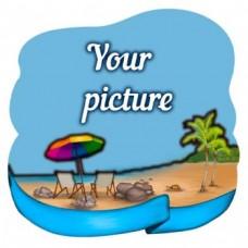 Слойка дерев'яна Пляж №2 магніт