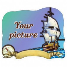 Слойка дерев'яна Човен з компасом магніт