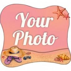 Слойка деревянная Песок и соломенная шляпа магнит