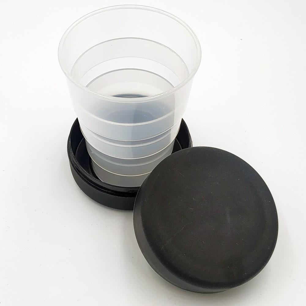 Туристический стаканчик черного цвета без изображения 130 мл