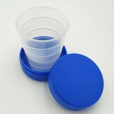 Складной стаканчик синего цвета без изображения 130 мл