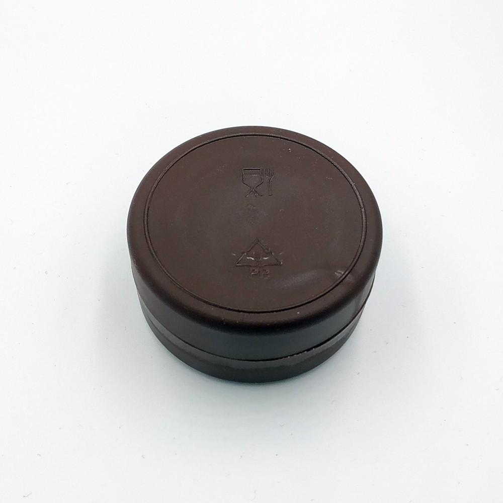 Складений стаканчик коричневого кольору без зображення 130 мл