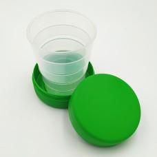 Складений стаканчик зеленого кольору без зображення 130 мл