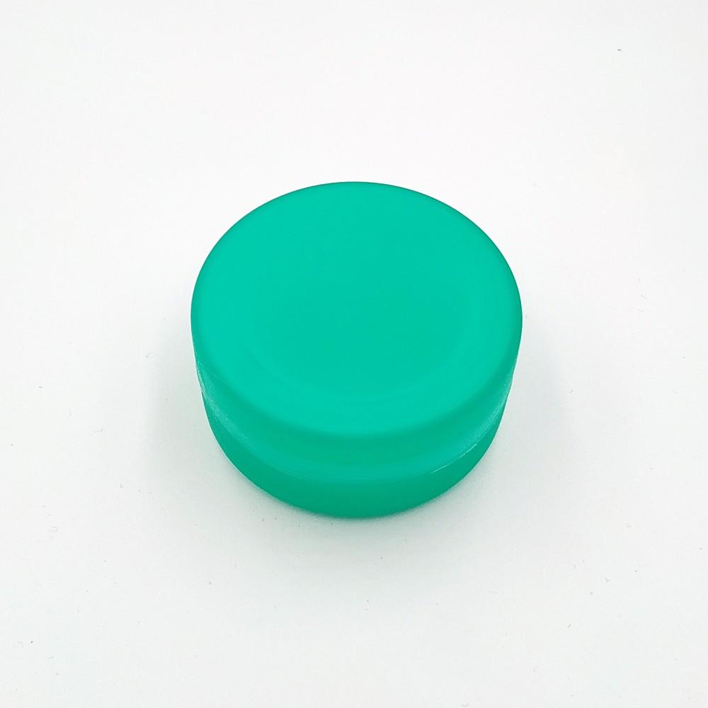 Складений стаканчик смарагдового кольору без зображення 130 мл