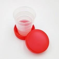 Складной стаканчик красного цвета без изображения 130 мл