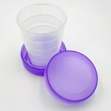 Складной стаканчик сиреневого цвета без изображения 130 мл