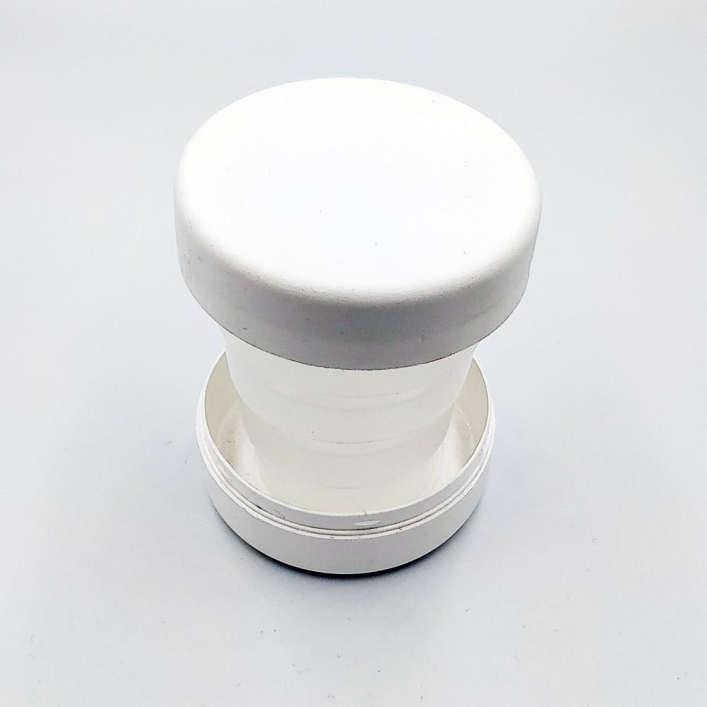Дорожній стаканчик білого кольору без зображення 130 мл