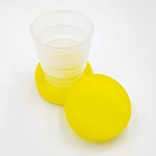 Складений стаканчик жовтого кольору без зображення 130 мл