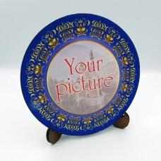 Сувенирная тарелка 110 мм с крючком платформа