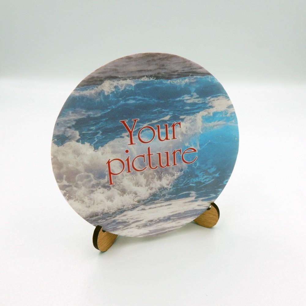 Сувенирная тарелка 85 мм с крючком плоское дно