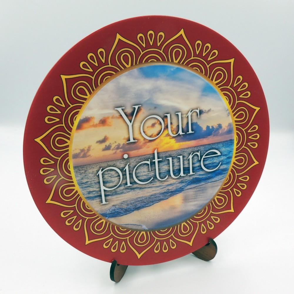 Сувенирная тарелка 160 мм с крючком платформа