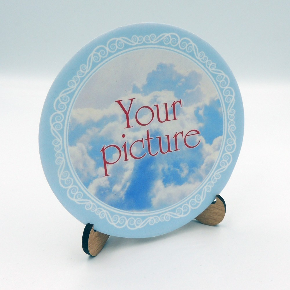 Сувенирная тарелка 85 мм с магнитом плоское дно
