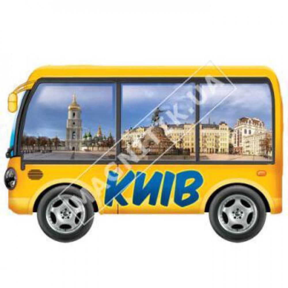 Керамічні магніти. Автобус туриста