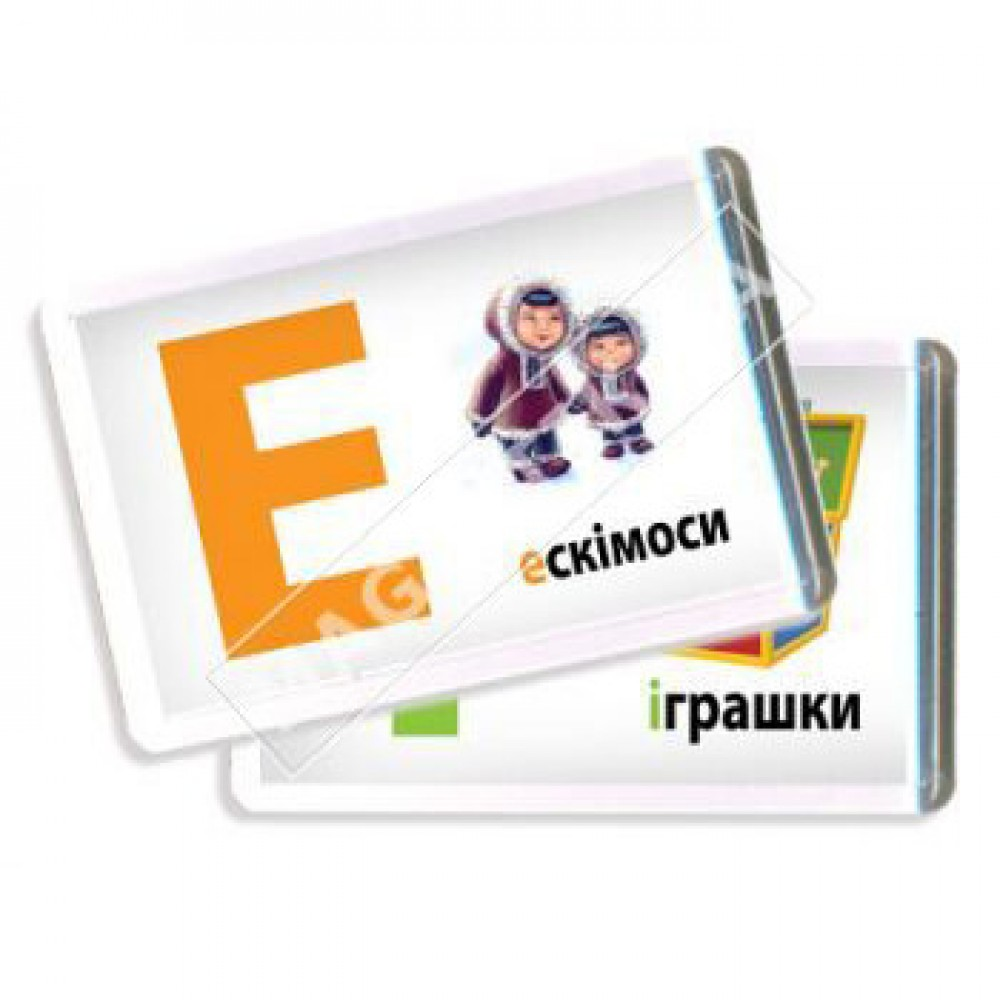 Украинский алфавит с картинками в акриловых магнитах