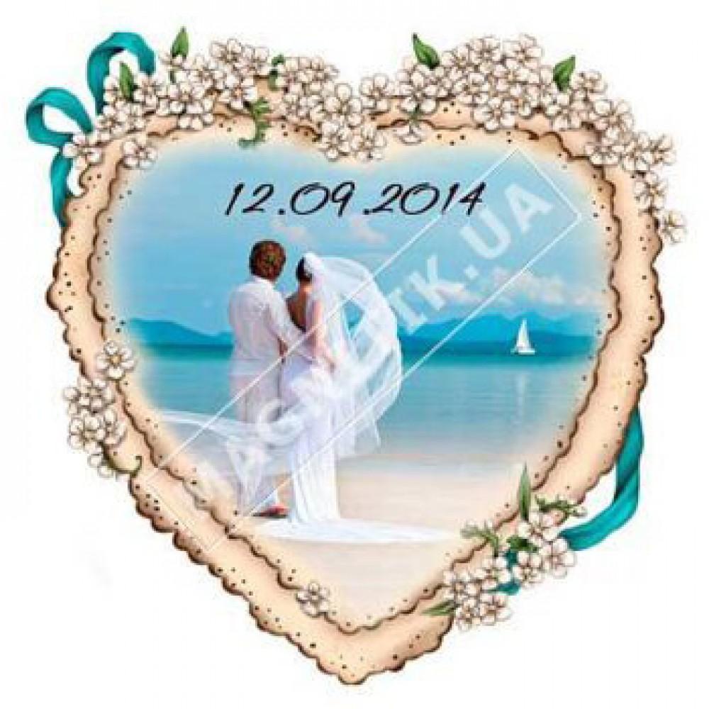 Поликерамические свадебные магниты. Сердце 2