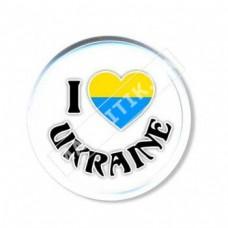 Акриловые значки патриота. Люблю Украину