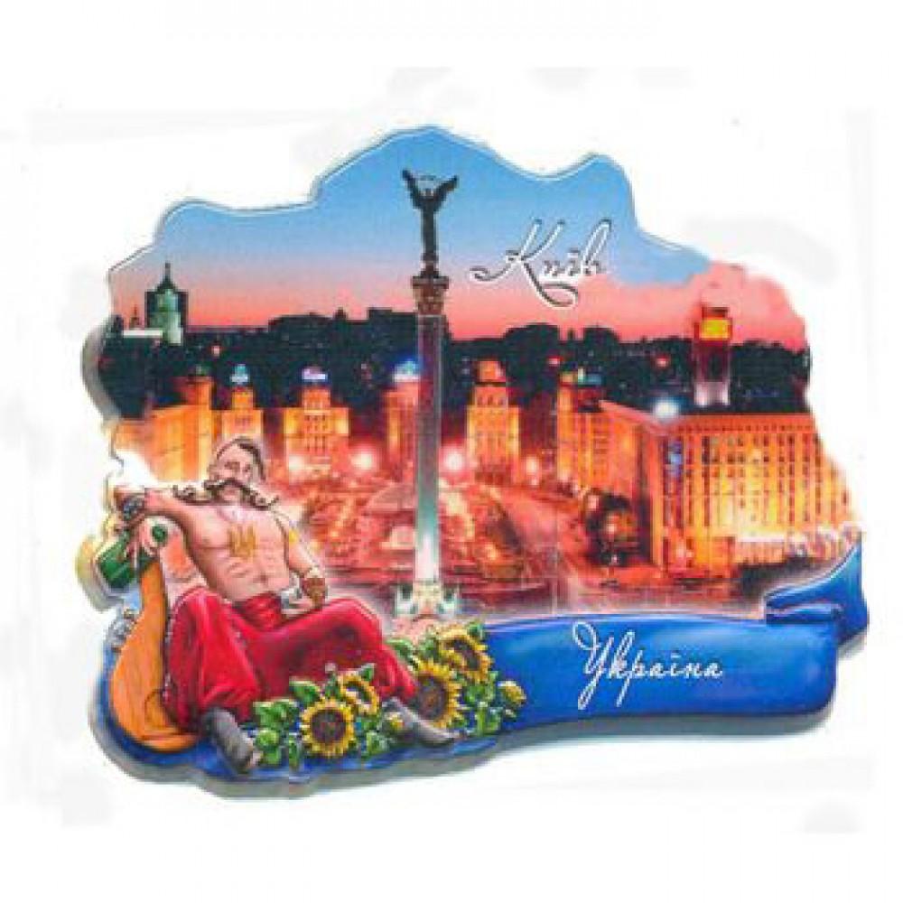 Керамические магниты для Киева. Козак и Майдан
