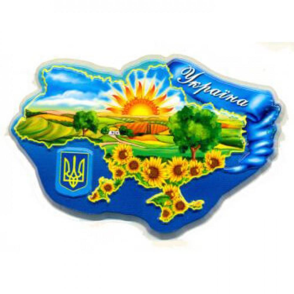 Керамический магнит в виде карты Украины