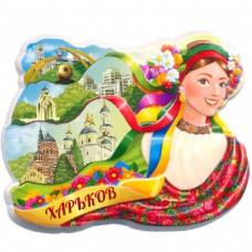Керамічні магніти. Харків. Стрічки і пам'ятки