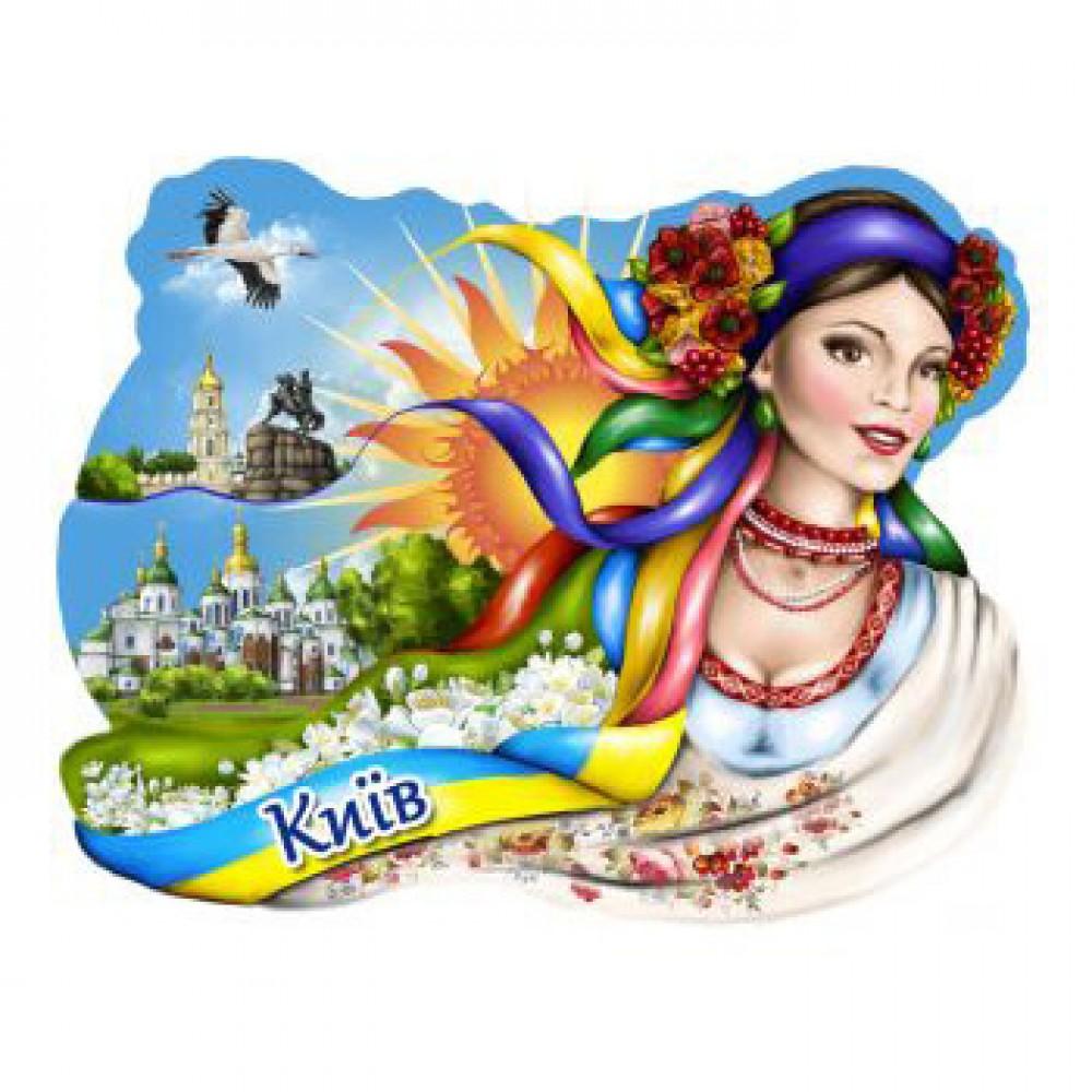 Керамические магнитики. Украинка и достопримечательности Киева