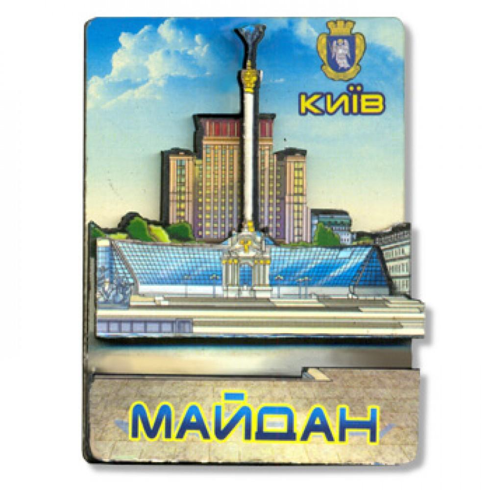 Деревянный магнитик. Киев. Майдан Независимости