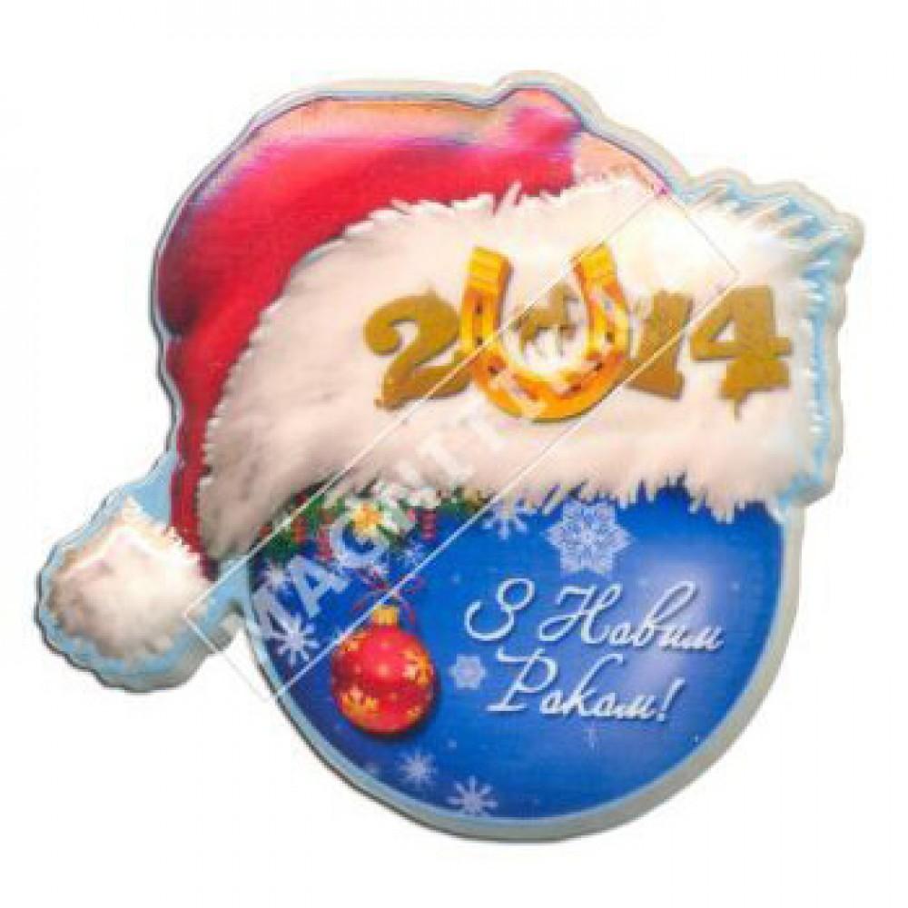Керамічні новорічні магніти. Шапка 2014 рік