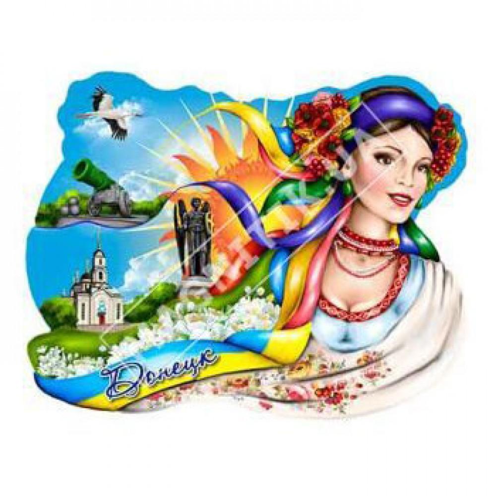 Магниты из керамики. Донецк. Девушка с лентами