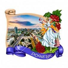 Керамічні магніти. Місто Донецьк. Дівчина і калина