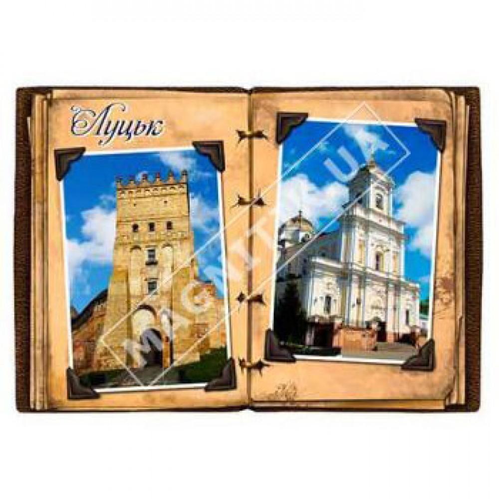 Магніти керамічні, об'ємні. Луцьк. Фотокнига. Замок і церква
