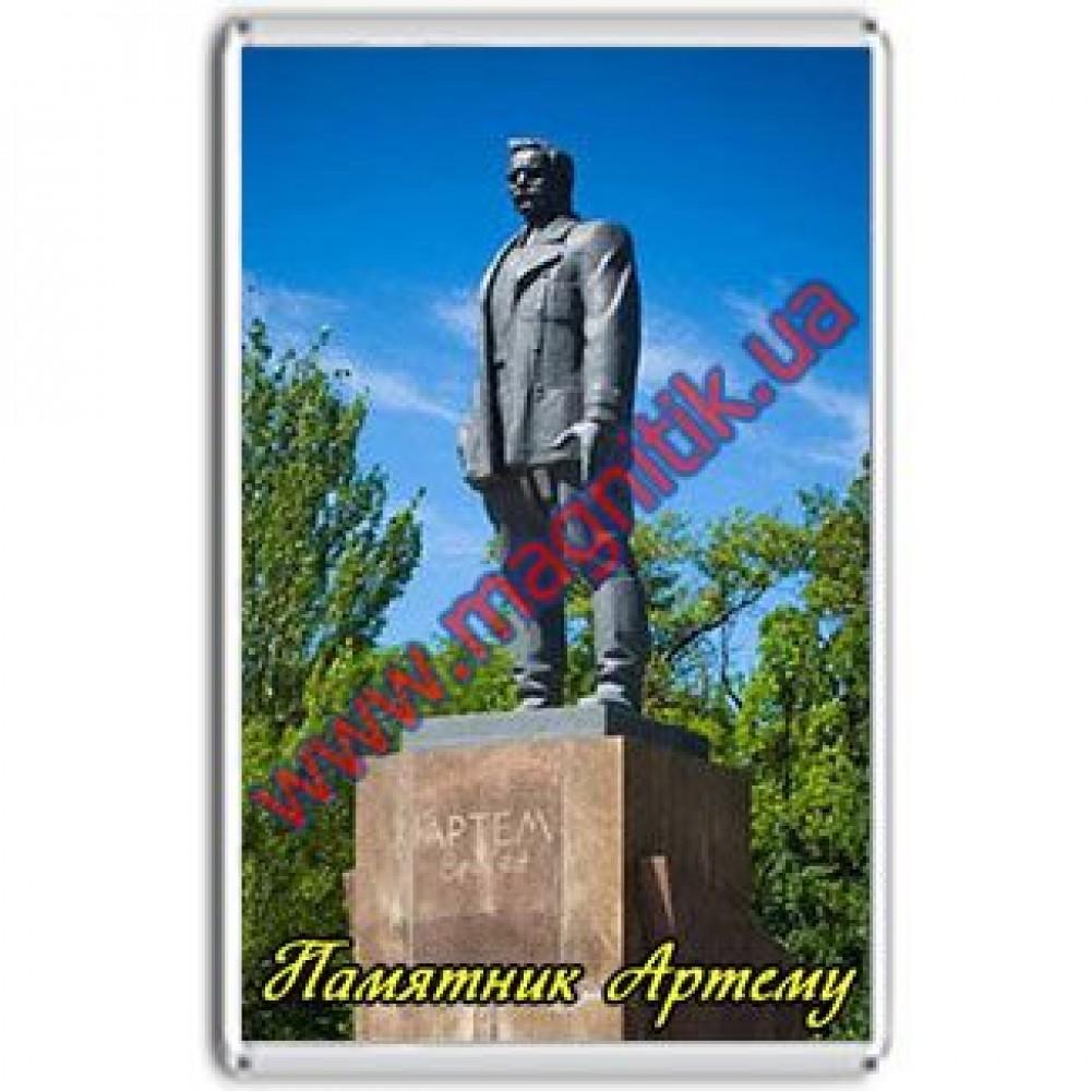Акриловые магниты на холодильник в Донецке. Памятник Артему.