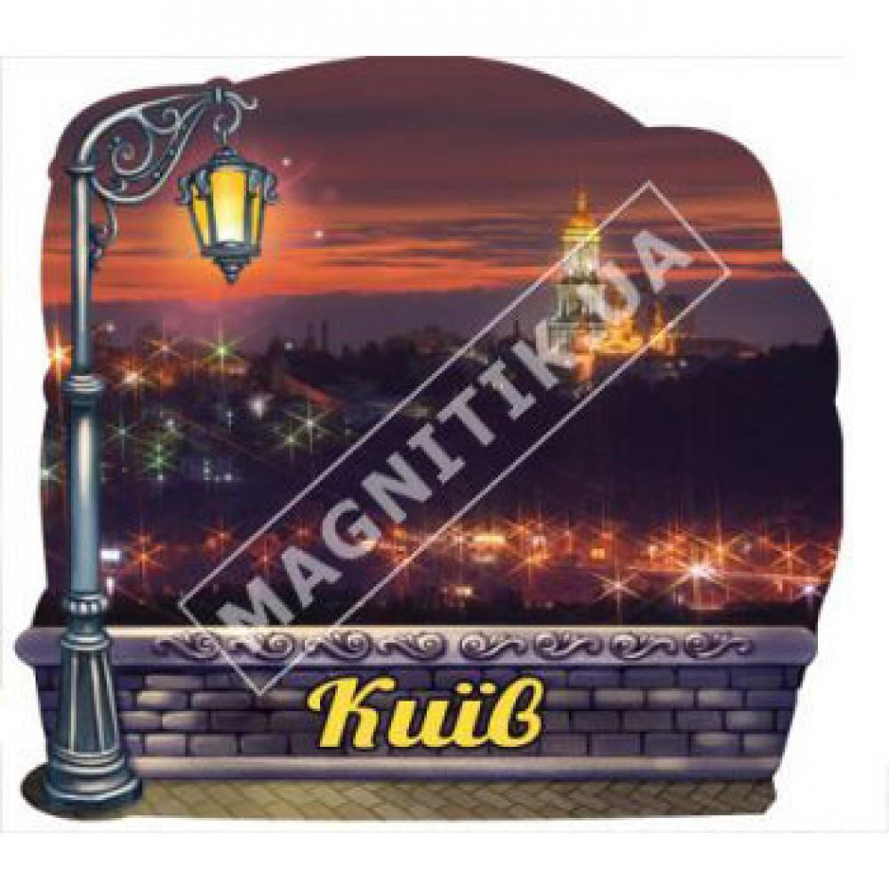 Поликерамические магниты, фонарь. Киев. Ночь
