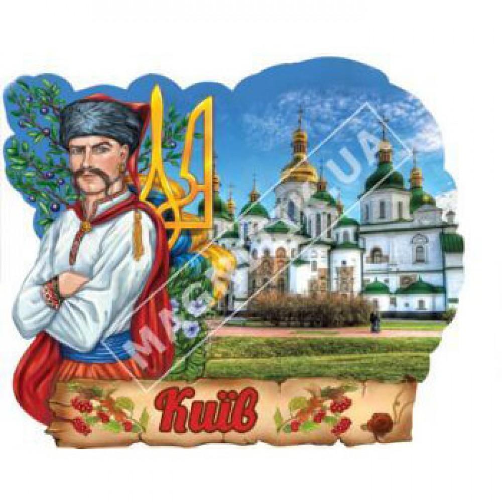 Объемные магниты, поликерамика. Казак и герб. Киев. Собор