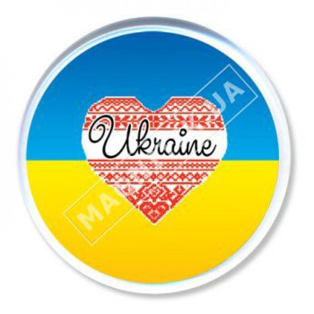 Значки патріота. Серце на прапорі України